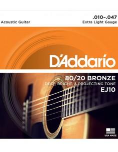 D'addario EJ10 80/20 Bronze...